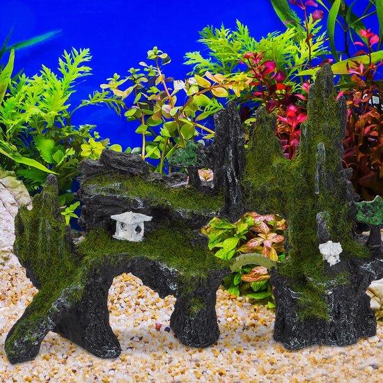 relaxdays aquarium decoratie rots - terrarium - schuilplek - aquarium versiering - rotsen