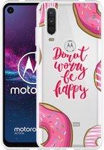 Motorola One Action Hoesje Donut Worry