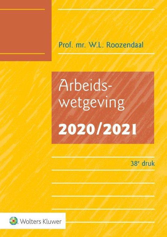 Boek cover Arbeidswetgeving 2020/2021 van W.L. Roozendaal (Paperback)