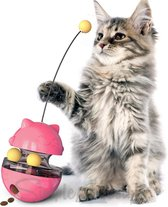 Katten Snack bal Voer Snoep Speeltje Speelgoed Voerbal Kitten Kat kittens - Roze