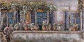 3D art Metaalschilderij - schilderij - Woonhuis - 150 x 60 - woonkamer slaapkamer