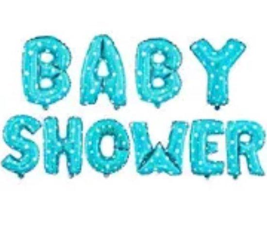 Babyshower Versiering Pakket 10 losse letters- It's a boy - Luxe Baby Shower Helium Balonnen Set - Baby boy Folie Ballon - Geboorte Feest Cadeau jongen -35cm hoog en de breedte varieert tussen 30-38cm