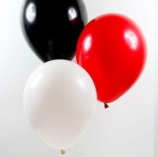 Ballonnen Piratenmix - 10 stuks - zwart - wit - rood