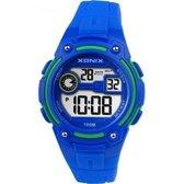 Blauw/groen Xonix digitaal kinder horloge waterdicht