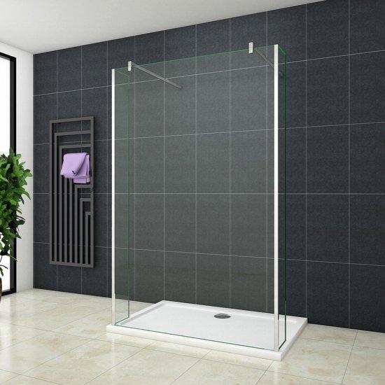Inloopdouche Vrijstaand met Zijwanden Blossom 1600x2000 8mm Helder Glas Antikalk Chroom