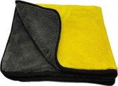 Auto droogdoek 40x40cm – Microvezel – Auto poetsen – Watermagneet – Absorberende doek – Geel Grijs – Plexiglas krasvrij