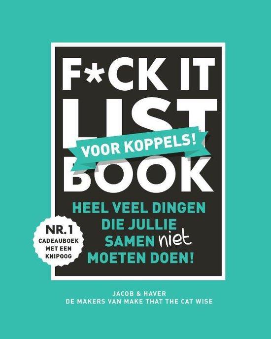 Boek cover F*CK-it list book voor koppels van Jacob & Haver (Hardcover)