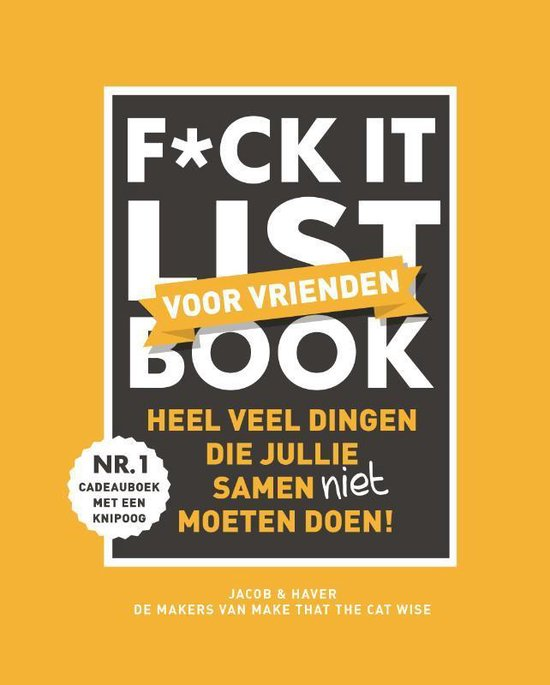 Boek cover F*ck it list book voor vrienden van Jacob & Haver (Hardcover)