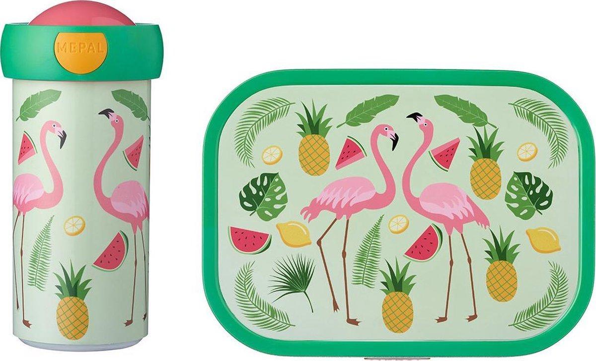 Mepal Campus Lunchset - Schoolbeker En Lunchbox - Tropical Flamingo