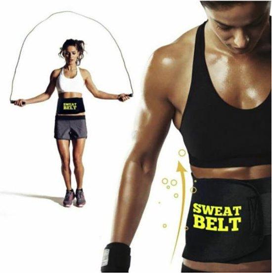 Sauna belt – Waist trainer – Waist shaper – Afslank band – Corset – Zweetband – Sweat belt – Afslankband – Buikband - Zwart - M