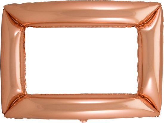 FOLAT BV - Aluminium roségouden lijst ballon - Decoratie > Feest spelletjes