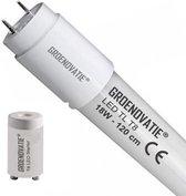 Groenovatie LED TL T8 Buis - 18W - 120cm - 2250 Lumen - Glas - 840 - Neutraal Wit - Incl. Starter