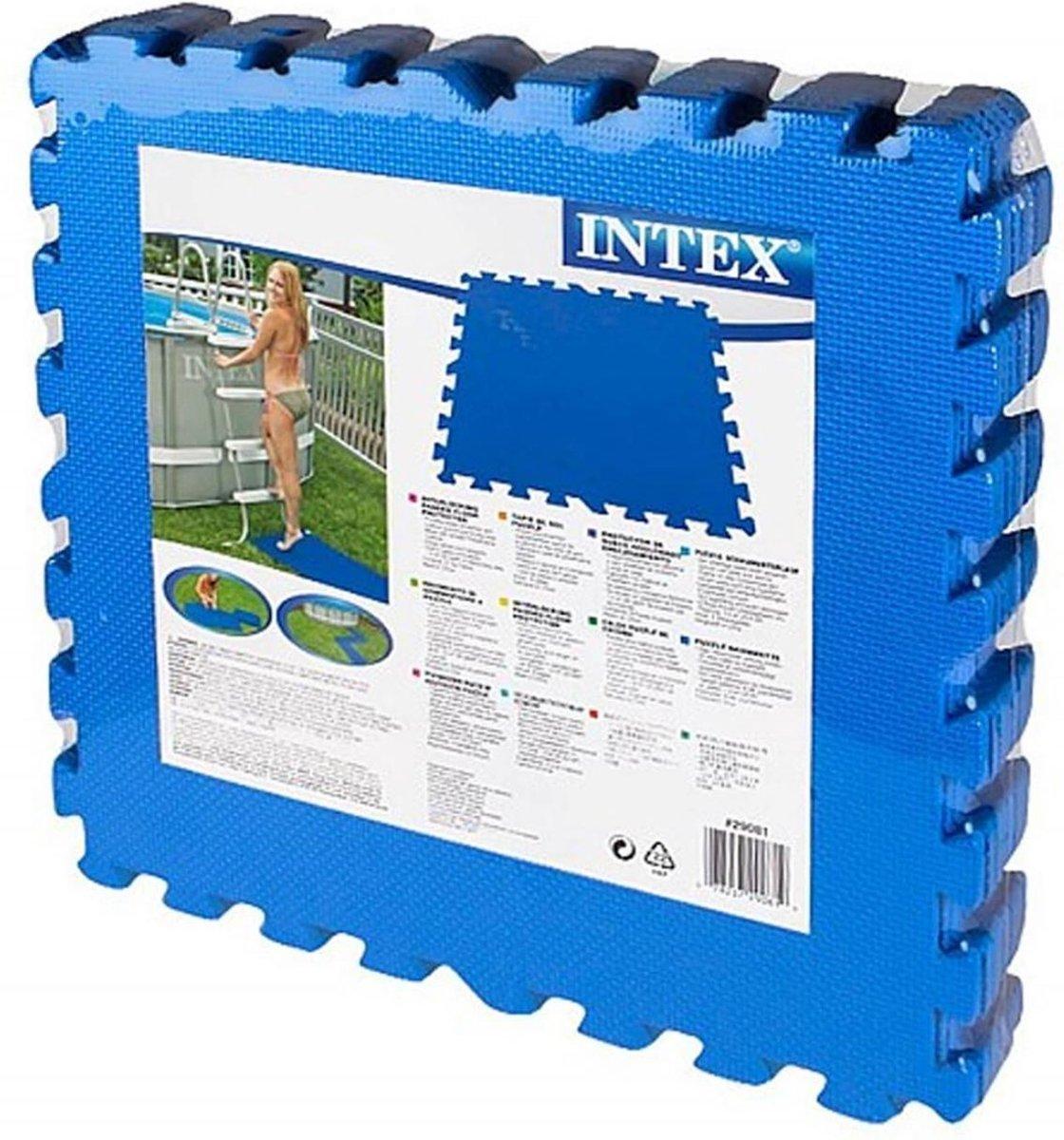 Intex - zwembad tegels - blauw - 50 x 50 cm - 8 tegels - 2 m2 - zwembad ondertegels