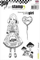 Carabelle Studio • cling stamp A6 a little girl