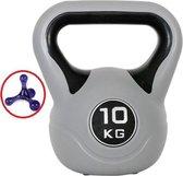 Kettlebell 10 kg  – Gewichten – Grijs/Zwart – 1 x 10 kg – Fitness – Krachttraining