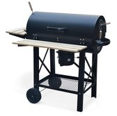 Houtskool barbecue Serge american smoker, met asbak - zwart