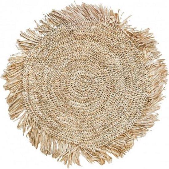 Raffia Placemat in Naturel - Rond - Bazar Bizar - ø45 cm (4 stuks)