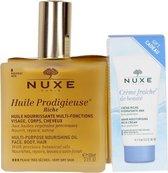 Nuxe Huile Prodigieuse Riche - 100 ml - Set voor de droge huid - Inclusief dagcrème 15 ml