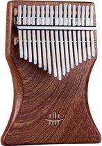 ATV PERFECTUM 2020 Kalimba Duimpiano met 17 Toetsen + Accessoires - Sapele - Massief hout - ThumbPiano – Muziekinstrument – Bamboe – Incl. StemHamer / luxe Opbergzak / Toets Stikkers / Duimbeschermers / Luxe Reinigingsdoek – C-Tune - Mbira