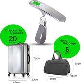Digitale Bagage Weegschaal - Koffer Weegschaal Weeghaak Kofferweger - Precisie Hang Weegschaal - 50KG