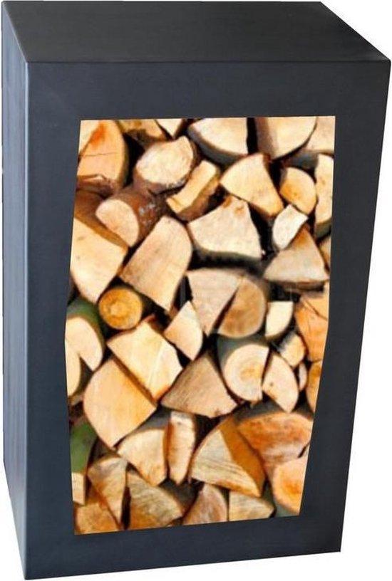 Haardhout Houtopslag Houtbox Zwart 80x50x35 cm