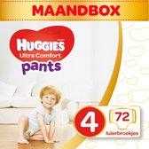 Huggies Ultra Comfort Pants - Luierbroekjes Maat 4 - 9 tot 14 kg - 72 stuks