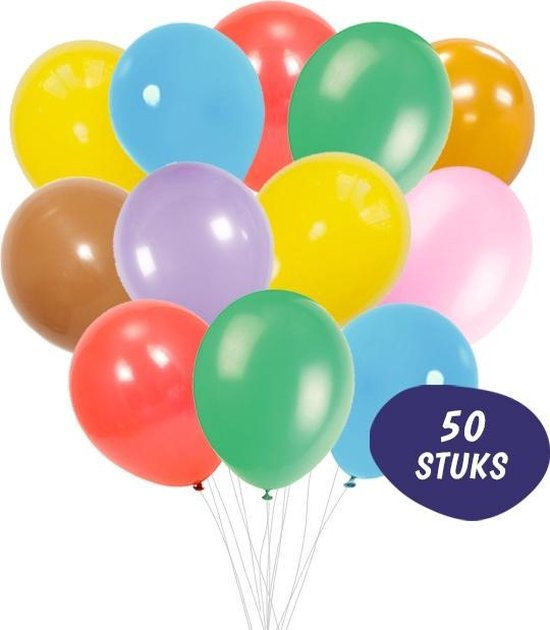 Ballonnenset 50 Stuks - Latex Gekleurde Ballonnen Gemengd