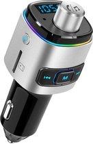 FM Transmitter Bluetooth Draadloze Carkit Voor in de Auto 2020 / MP3 Speler Mobiel / LED Verlichting / Handsfree Bellen in de Auto / Bluetooth 5.0 / USB 3.0 Auto Lader / 2 USB aansluitingen / Muziek Streamen / USB of SD kaart / Carkit Adapter