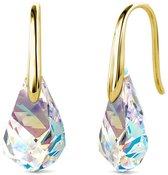 Yolora dames oorbellen met Kalpa Camaka kristallen - 18K Geelgoud vergulde oorhangers - YO-E086-YG-AB