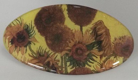 Haarclip zonnebloemen Vincent van Gogh