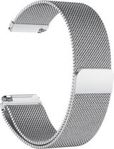 Milanees bandje zilver geschikt voor Fitbit Versa (Lite)