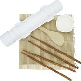 Sushi Bazooka Set incl. Rolmat + 2 Paar Chopsticks + Rijstlepel + GRATIS Sausbakje - Sushi Maker