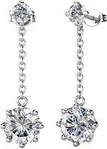Yolora dames oorbellen met Swarovski kristallen - 18K Witgoud vergulde oorhangers - 925 sterling zilver - YO-E025-WG-CC