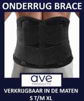 AVE® Onderrug Brace voor Rugpijn - Maat XL - Rugband - Rug - Houding – Hernia – Scoliose - Rugbrace