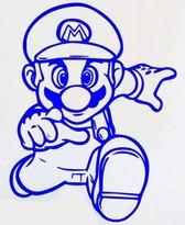 Blauwe Super Mario Game Muursticker