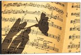 Dibond –Muzieknoten– 60x40 Foto op Aluminium (Wanddecoratie van metaal)