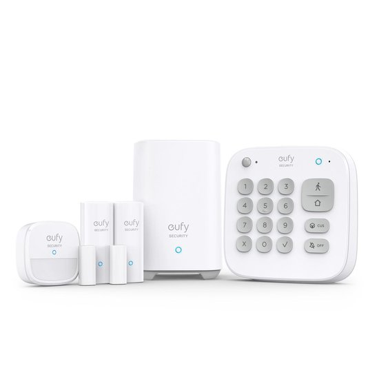 Eufy by Anker Draadloos Alarmsysteem - 5-delig - Inclusief HomeBase - Wit