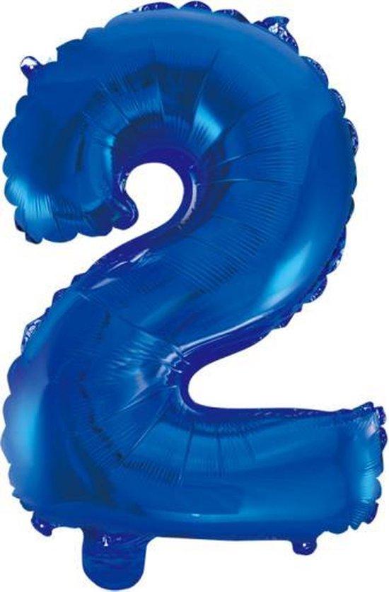 Folieballon 2 jaar blauw 41cm