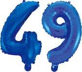 Folieballon 49 jaar blauw 41cm