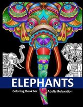 Elephants Coloring Book for Adults Relaxation