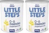 Nestlé Little Steps Standaard 1 flesvoeding - tot 6 maanden - 2 x 800 gram - zuigelingenvoeding