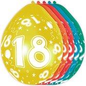 Ballonnen 18 Jaar Versiering 30cm 8 stuks