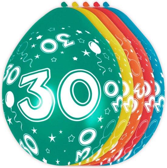 Ballonnen 30 Jaar Versiering 30cm 5 Stuks
