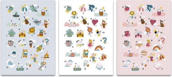 Mijn alfabet poster blauw 50 x 70 cm