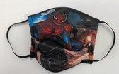 Mondmasker voor kinderen met Spiderman opdruk - Mondkapje voor kinderen - Herbruikbaar - Wasbaar - Geschikt voor OV - Niet medisch - Antibacterieel - Met elastiek - Face Mask - Mondkapje wasbaar - Mondmasker wasbaar