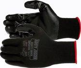 Dames Tuinhandschoen Spro | Safety Jogger | werkhandschoen zwart - Dames / heren met Nitrille coating - maat 7 / S | Tuinhandschoenen – Klussen – Werken – Bouw – Handschoenen – Maximale grip –