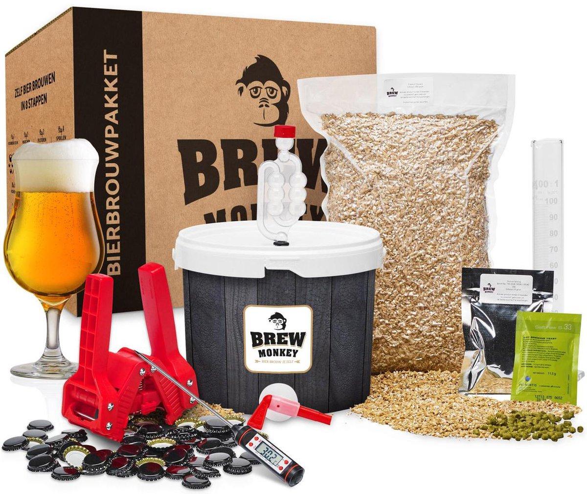 Brew Monkey Bierbrouwpakket - Compleet Tripel bier - Starterspakket bierbrouwen