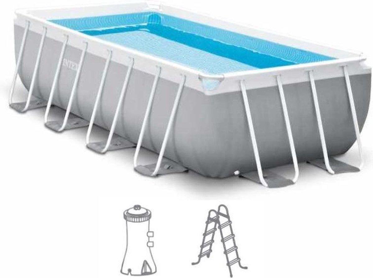 Intex Prism Frame Pool - Zwembad 400 x 200 x 100cm - met pomp en accessoires