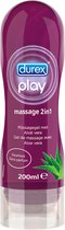 Durex Massage Olie en Glijmiddel 2-in-1 - Aloë Vera - 200 ml
