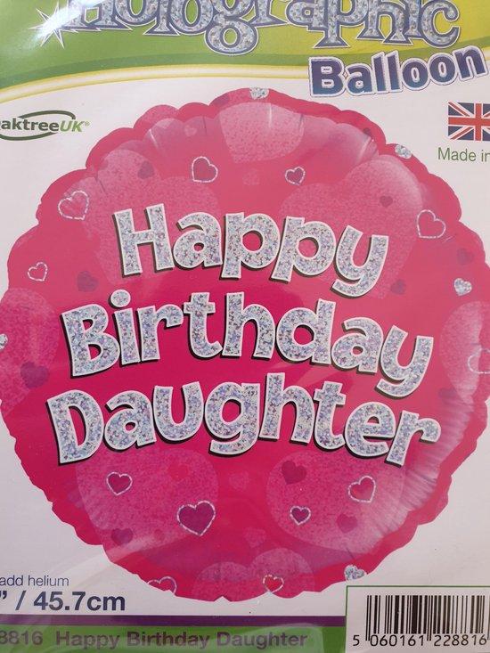 Folieballon happy birthday daughter